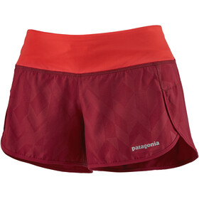 "Patagonia Strider Shorts 3 1/2"" Women fast quilt emboss/roamer red"